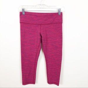 Lululemon Pink Edge Cropped Wunder Under Pants